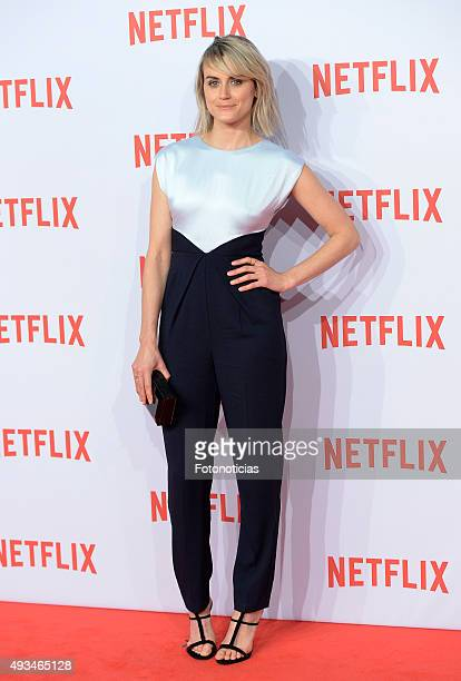Taylor Schilling attends the red carpet of Netflix presentation at the Matadero Cultural Center on October 20 2015 in Madrid Spain