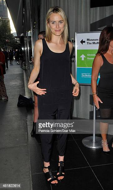 Taylor Schilling is seen on July 7 2014 in New York City