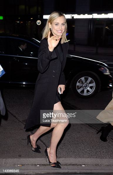 Taylor Schilling seen arriving at the Grill Royal in Berlin on April 25 2012 in Berlin Germany