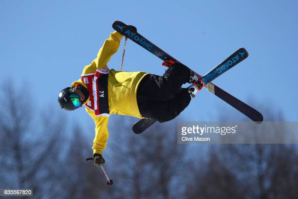 Taylor Seaton of USA in action during the FIS Freestyle World Cup Ski Halfpipe Qualification at Bokwang Snow Park on February 16 2017 in...