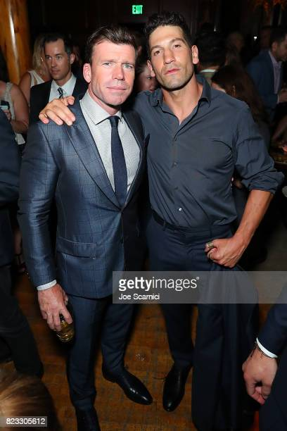 Taylor Sheridan and Jon Bernthal arrive at the Wind River Los Angeles Premiere Presented in Partnership with FIJI Water at Ace Hotel on July 26 2017...