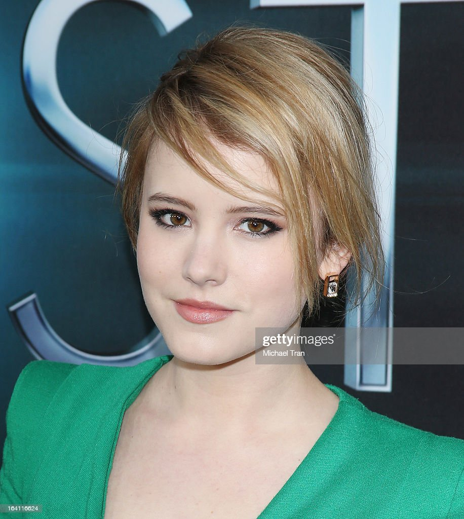 Taylor Spreitler arrives at the Los Angeles premiere of 'The Host' held at ArcLight Cinemas Cinerama Dome on March 19, 2013 in Hollywood, California.