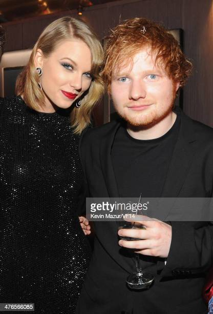 Taylor Swift and Ed Sheeran attend the 2014 Vanity Fair Oscar Party Hosted By Graydon Carter on March 2 2014 in West Hollywood California