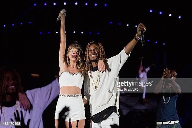 Taylor Swift and Fetty Wap at CenturyLink Field on August 8 2015 in Seattle Washington