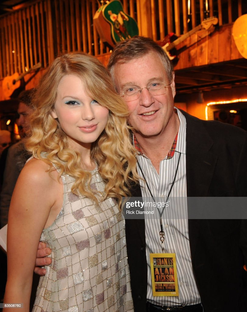 Taylor Swift and her Dad Scott K. Swift at the Taping of CMT 'GIANTS' Honoring Alan Jackson at The Ryman Auditorium on October 30, 2008 in Nashville, Tennessee. CMT 'GIANTS' airs December 6, 2008 at 9pm ET only on CMT.