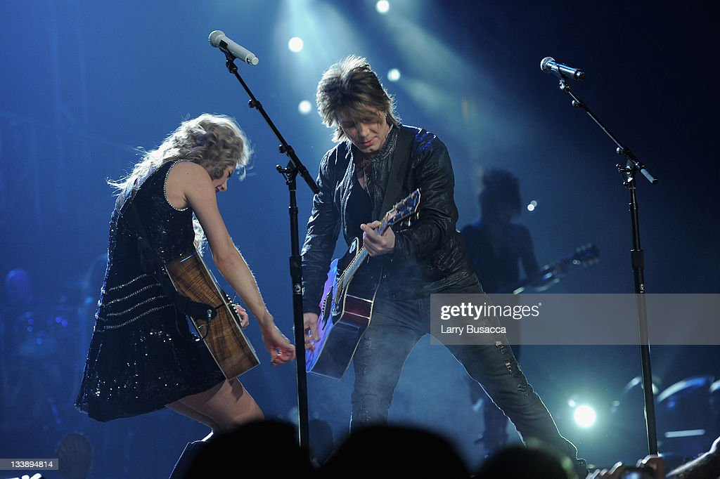 Taylor Swift and Johnny Rzeznik of the Goo Goo Dolls perform during the 'Speak Now World Tour' at Madison Square Garden on November 21, 2011 in New York City. Taylor Swift wrapped up the North American leg of her SPEAK NOW WORLD TOUR with two sold-out shows at Madison Square Garden this week. In 2011, the tour played to capacity crowds in stadiums and arenas over 98 shows in 17 countries spanning three continents, and will continue in 2012 with shows Australia and New Zealand.