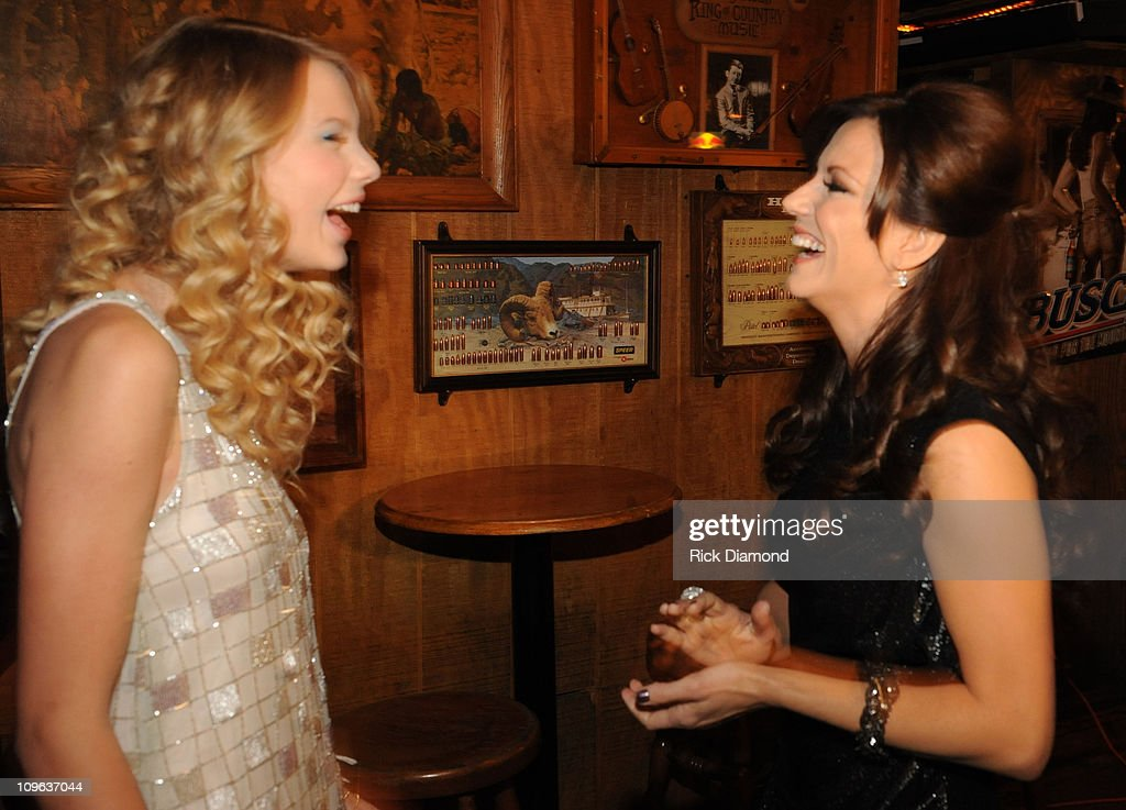 Taylor Swift and Martina McBride backstage before the Taping of CMT 'GIANTS' Honoring Alan Jackson at The Ryman Auditorium on October 30, 2008 in Nashville, Tennessee. CMT 'GIANTS' airs December 6, 2008 at 9pm ET only on CMT.