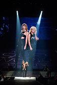 Taylor Swift and Miranda Lambert performs at a concert for adoring fans at the Greensboro Coliseum on October 21 2015 in Greensboro North Carolina
