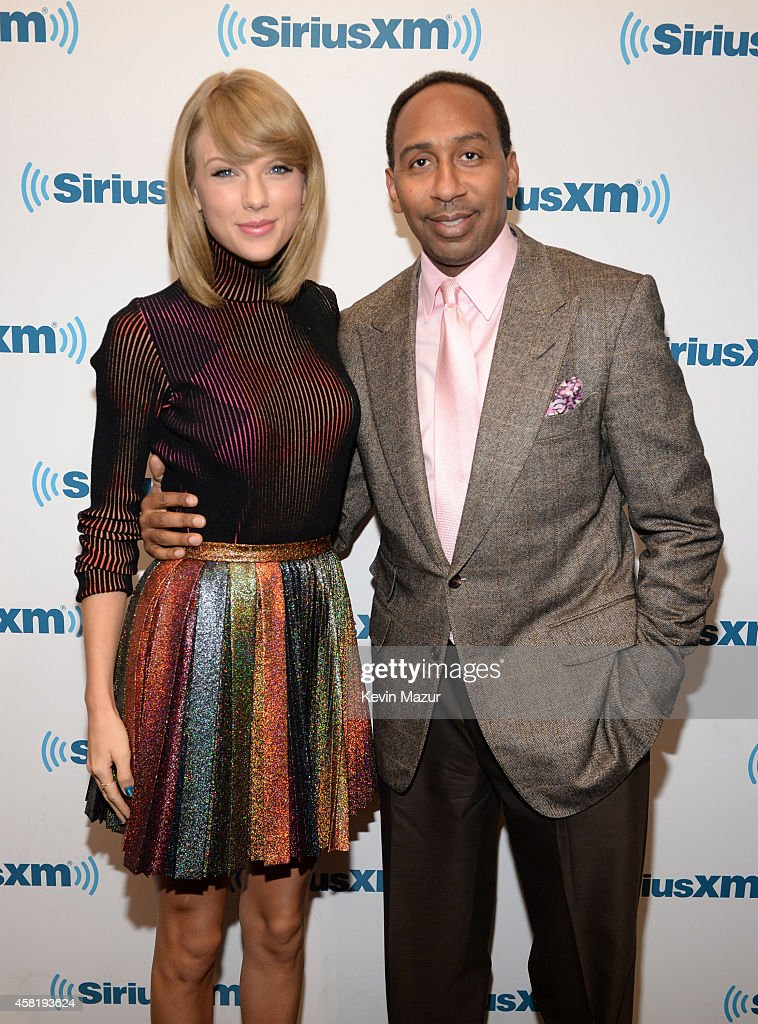 Taylor Swift and Stephen A Smith attend '1989' 'Town Hall' ai...