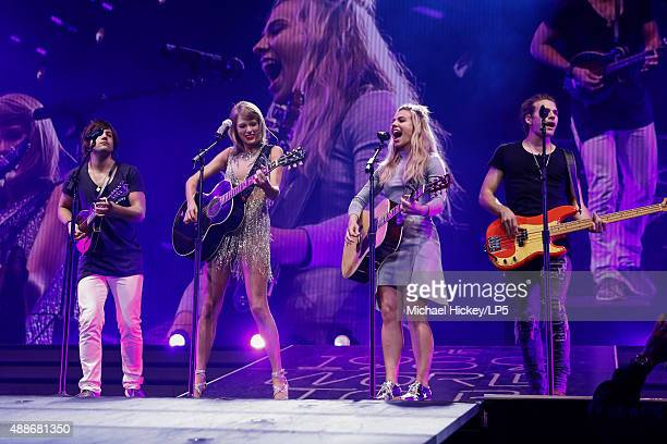 Taylor Swift and The Band Perry performs at Bankers Life Fieldhouse on September 16 2015 in Indianapolis Indiana