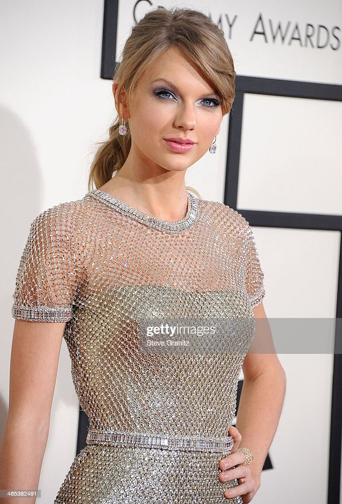 Taylor Swift arrivals at the 56th GRAMMY Awards on January 26, 2014 in Los Angeles, California.