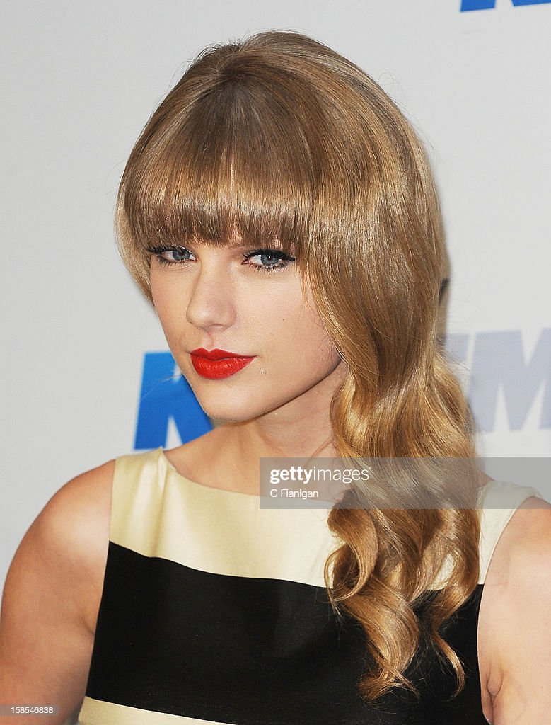 <a gi-track='captionPersonalityLinkClicked' href=/galleries/search?phrase=Taylor+Swift&family=editorial&specificpeople=619504 ng-click='$event.stopPropagation()'>Taylor Swift</a> arrives at the 2012 KIIS FM Jingle Ball at Nokia Theatre LA Live on December 1, 2012 in Los Angeles, California.