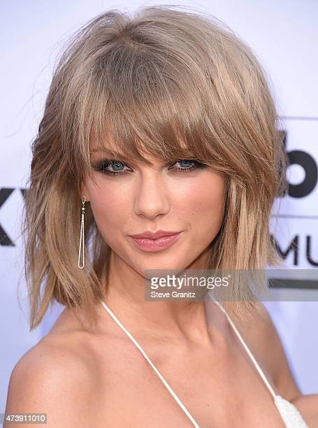 Taylor Swift arrives at the 2015 Billboard Music Awards at MGM Garden Arena on May 17 2015 in Las Vegas Nevada
