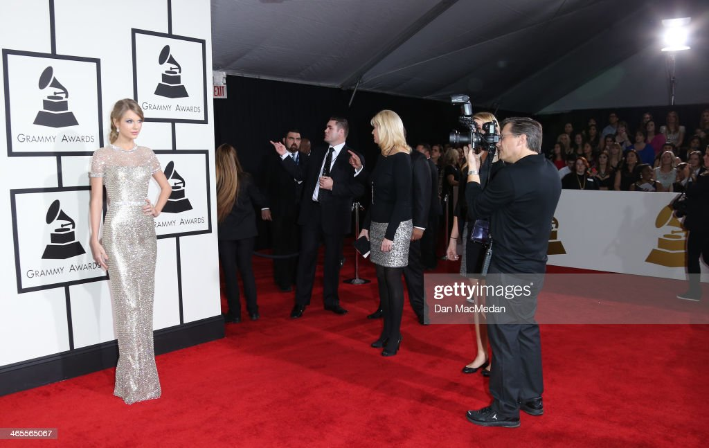 Taylor Swift arrives at the 56th Annual GRAMMY Awards at Staples Center on January 26, 2014 in Los Angeles, California.