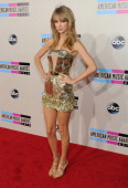 Taylor Swift attends the 2013 American Music Awards at Nokia Theatre LA Live on November 24 2013 in Los Angeles California