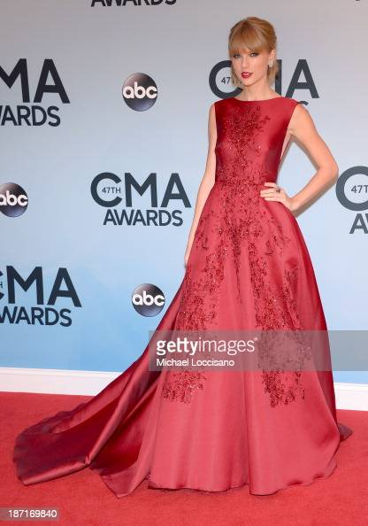 Taylor Swift attends the 47th annual CMA Awards at the Bridgestone Arena on November 6 2013 in Nashville Tennessee