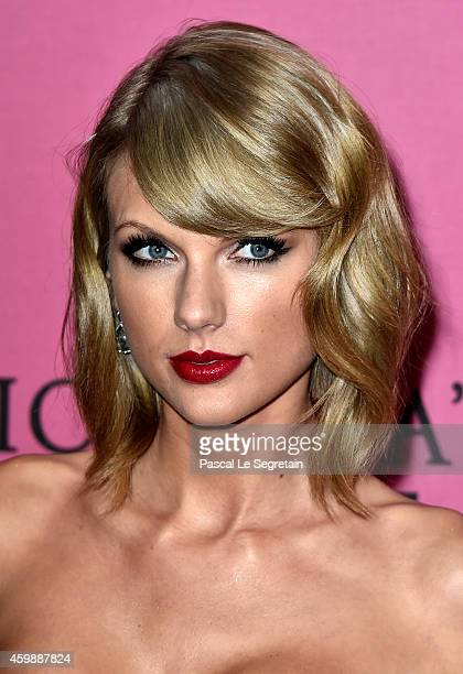 Taylor Swift attends the annual Victoria's Secret fashion show at Earls Court on December 2 2014 in London England