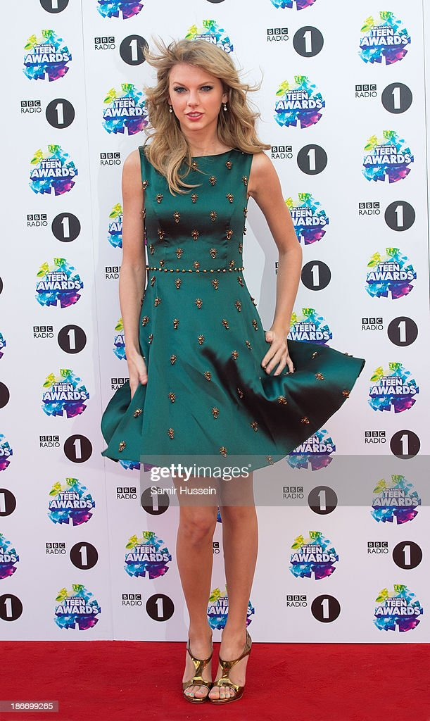 <a gi-track='captionPersonalityLinkClicked' href=/galleries/search?phrase=Taylor+Swift&family=editorial&specificpeople=619504 ng-click='$event.stopPropagation()'>Taylor Swift</a> attends the BBC Radio 1 Teen Awards at Wembley Arena on November 3, 2013 in London, England.