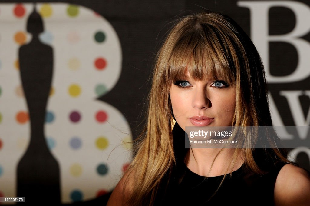 <a gi-track='captionPersonalityLinkClicked' href=/galleries/search?phrase=Taylor+Swift&family=editorial&specificpeople=619504 ng-click='$event.stopPropagation()'>Taylor Swift</a> attends the Brit Awards 2013 at the 02 Arena on February 20, 2013 in London, England.