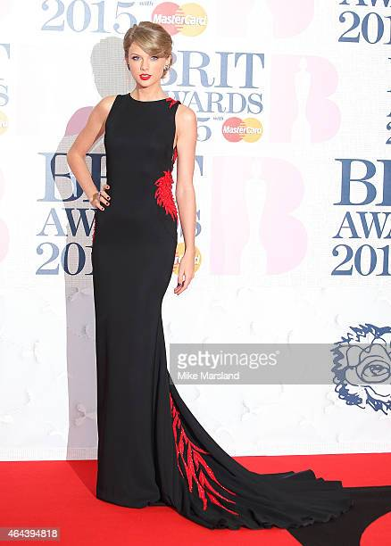 Taylor Swift attends the BRIT Awards 2015 at The O2 Arena on February 25 2015 in London England