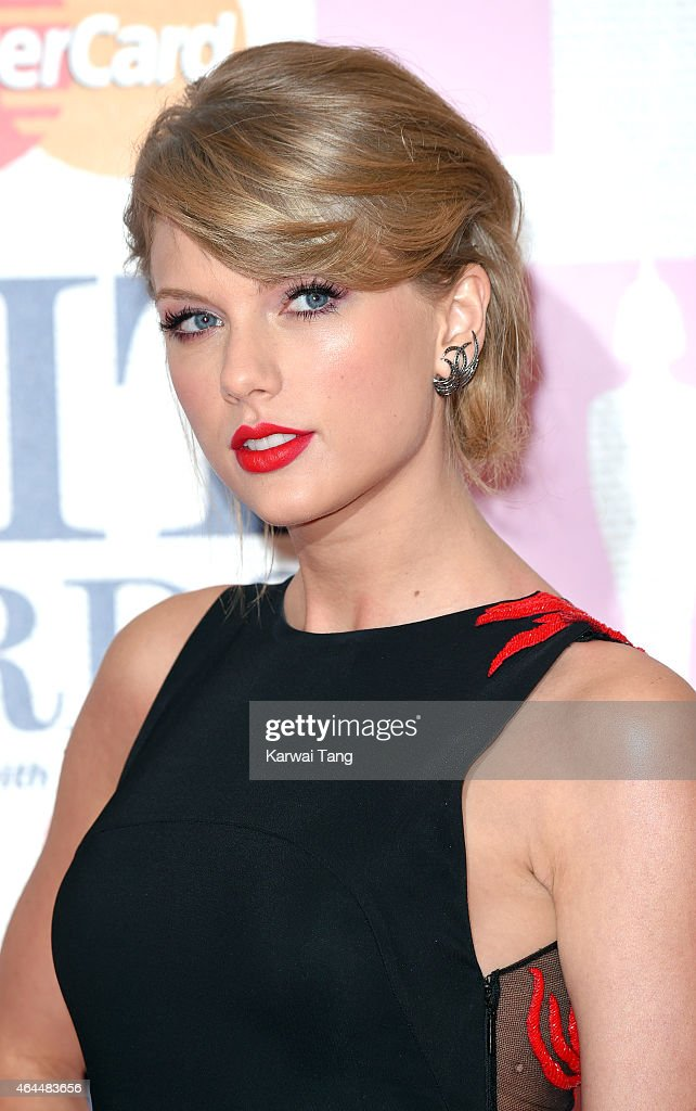 <a gi-track='captionPersonalityLinkClicked' href=/galleries/search?phrase=Taylor+Swift&family=editorial&specificpeople=619504 ng-click='$event.stopPropagation()'>Taylor Swift</a> attends the BRIT Awards 2015 at The O2 Arena on February 25, 2015 in London, England.