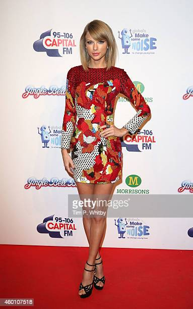 Taylor Swift attends the Jingle Bell Ball at 02 Arena on December 7 2014 in London England