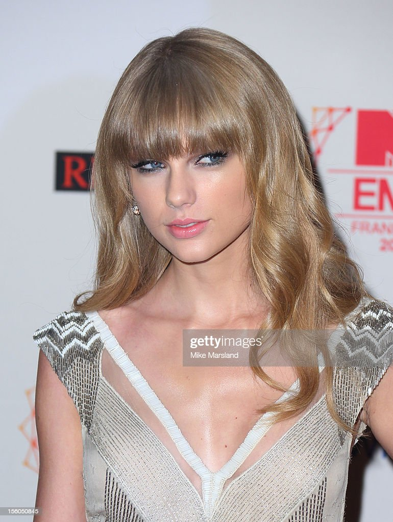 <a gi-track='captionPersonalityLinkClicked' href=/galleries/search?phrase=Taylor+Swift&family=editorial&specificpeople=619504 ng-click='$event.stopPropagation()'>Taylor Swift</a> attends the MTV EMA's 2012 at Festhalle Frankfurt on November 11, 2012 in Frankfurt am Main, Germany.