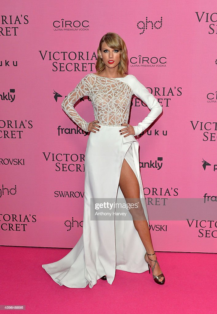 <a gi-track='captionPersonalityLinkClicked' href=/galleries/search?phrase=Taylor+Swift&family=editorial&specificpeople=619504 ng-click='$event.stopPropagation()'>Taylor Swift</a> attends the pink carpet of the 2014 Victoria's Secret Fashion Show on December 2, 2014 in London, England.
