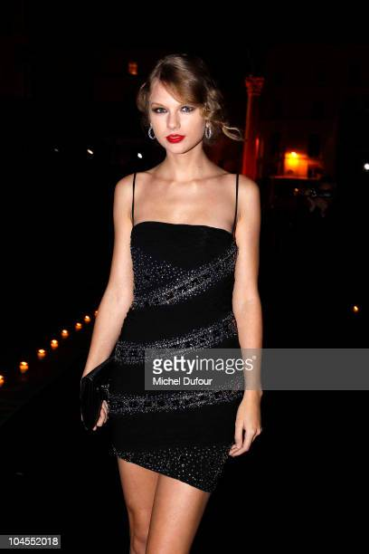 Taylor Swift attends the Roberto Cavalli party 40 anniversary at Les BeauxArts de Paris on September 29 2010 in Paris France