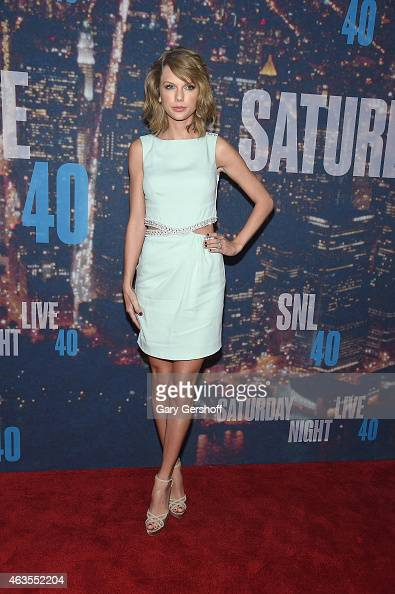 Taylor Swift attends the SNL 40th Anniversary Celebration at Rockefeller Plaza on February 15 2015 in New York City