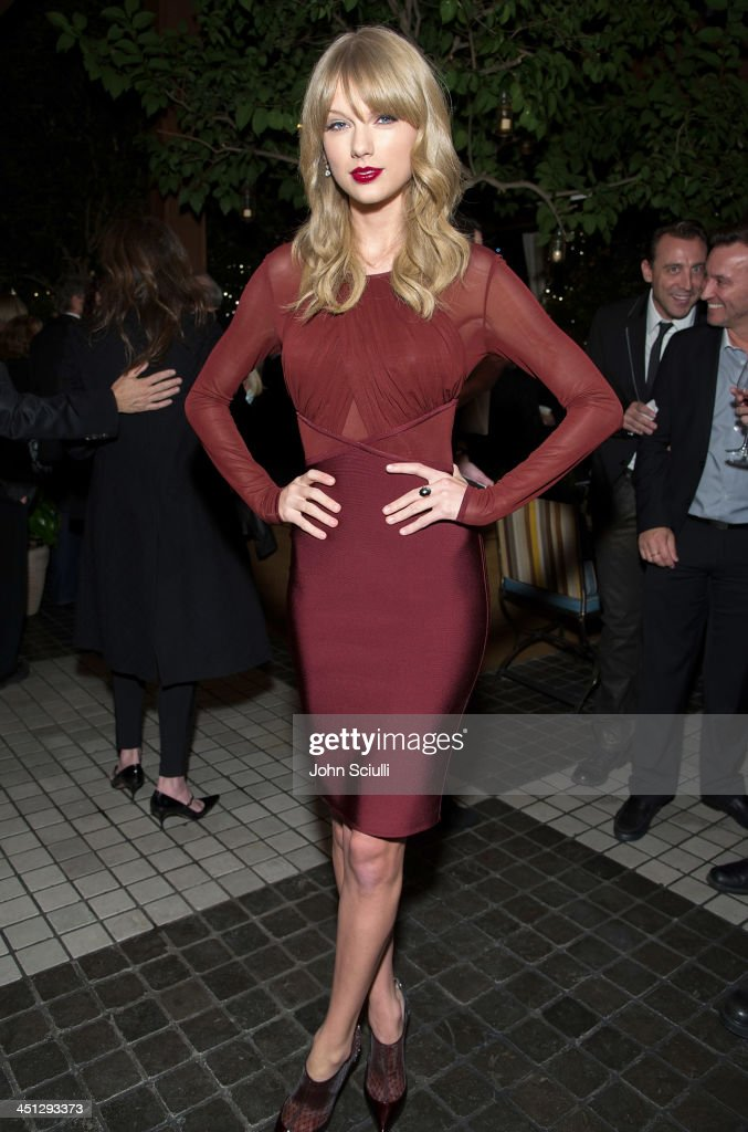 <a gi-track='captionPersonalityLinkClicked' href=/galleries/search?phrase=Taylor+Swift&family=editorial&specificpeople=619504 ng-click='$event.stopPropagation()'>Taylor Swift</a> attends the Weinstein Company's holiday party at RivaBella on November 21, 2013 in West Hollywood, California.