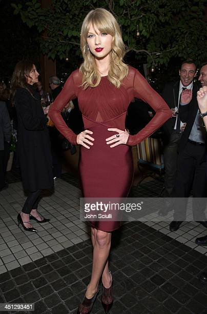 Taylor Swift attends the Weinstein Company's holiday party at RivaBella on November 21 2013 in West Hollywood California