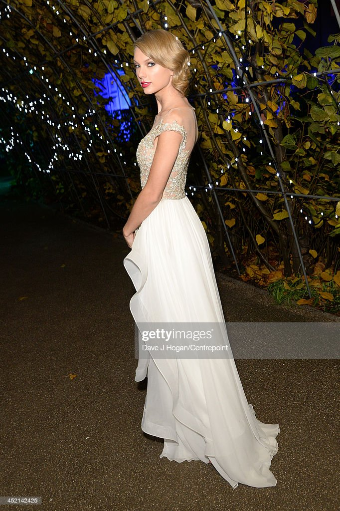 <a gi-track='captionPersonalityLinkClicked' href=/galleries/search?phrase=Taylor+Swift&family=editorial&specificpeople=619504 ng-click='$event.stopPropagation()'>Taylor Swift</a> attends Winter Whites Gala In Aid Of Centrepoint on November 26, 2013 in London, England.