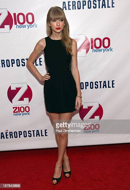 Taylor Swift attends Z100's Jingle Ball 2012 presented by Aeropostale at Madison Square Garden on December 7 2012 in New York City