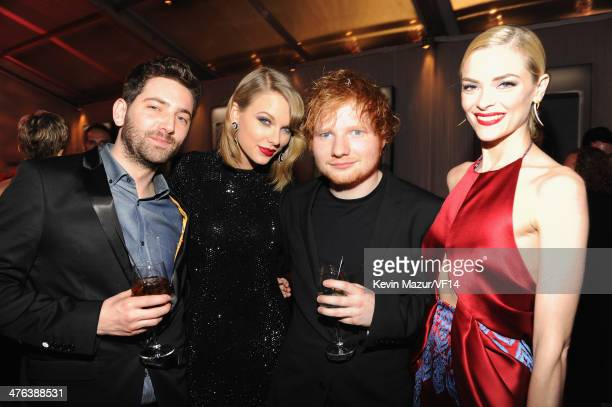 Taylor Swift Ed Sheeran and Jaime King attend the 2014 Vanity Fair Oscar Party Hosted By Graydon Carter on March 2 2014 in West Hollywood California