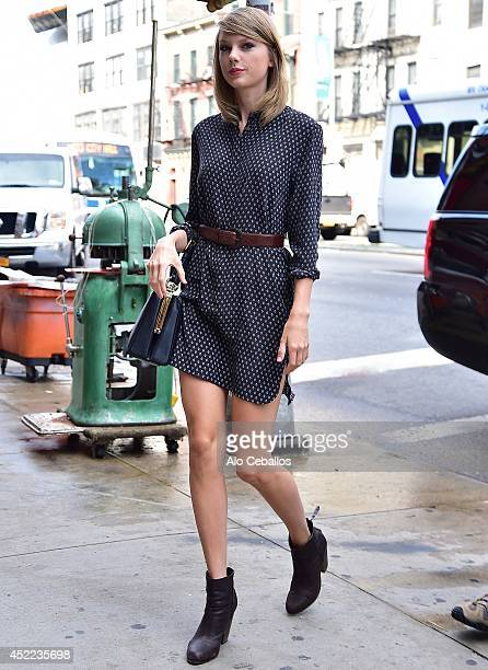 Taylor Swift is seen arriving at the gym on July 16 2014 in New York City
