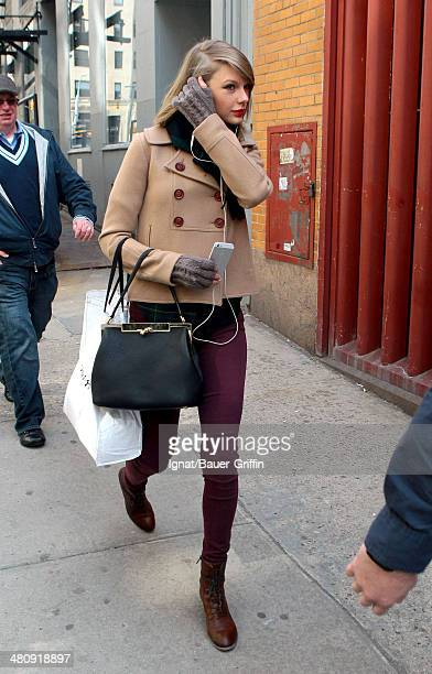 Taylor Swift is seen as she goes for a stroll on March 27 2014 in New York City