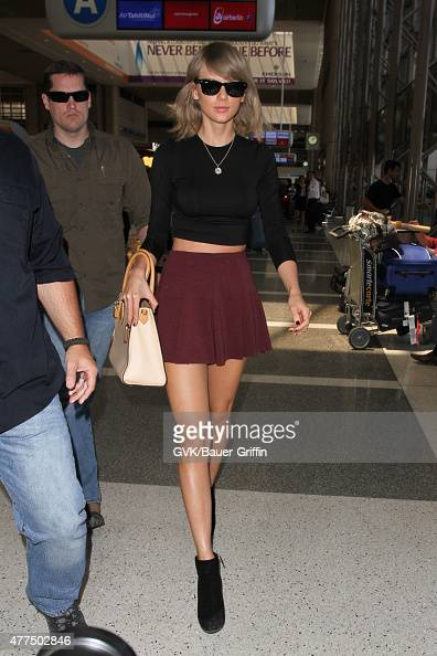 Taylor Swift is seen at LAX on June 17 2015 in Los Angeles California