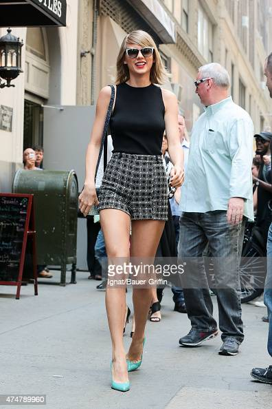 Taylor Swift is seen in New York City on May 26 2015 in New York City