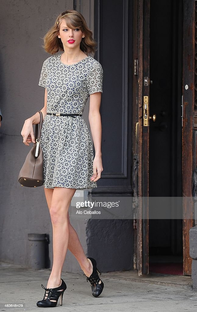 Taylor Swift is seen in the Meatpacking District on April 9, 2014 in New York City.