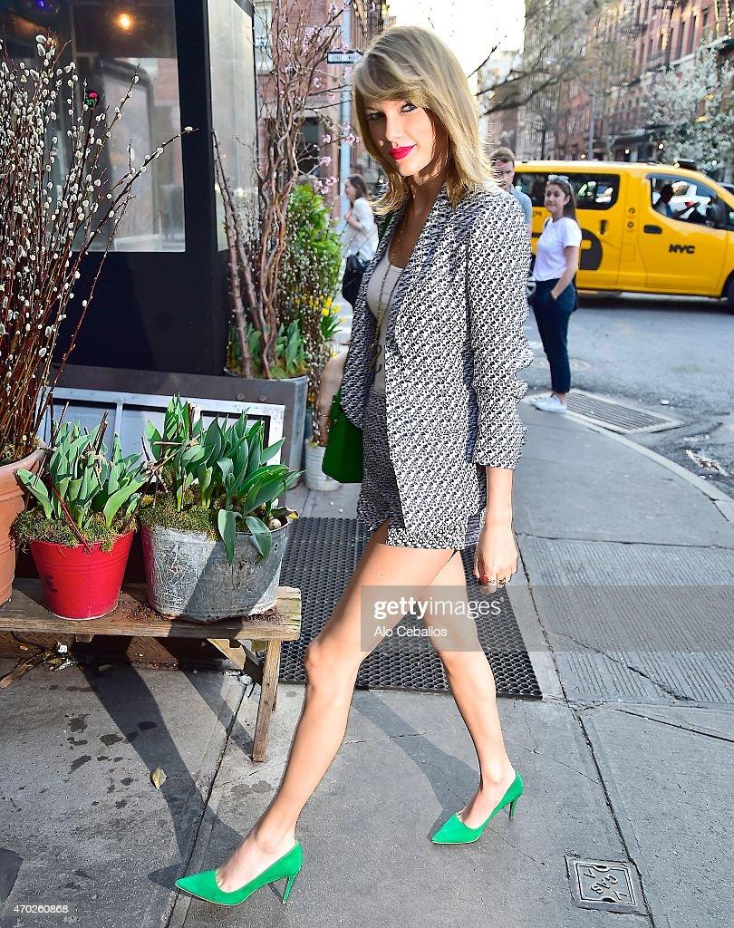 Taylor Swift's Street Style: Heels & Red Lipstick