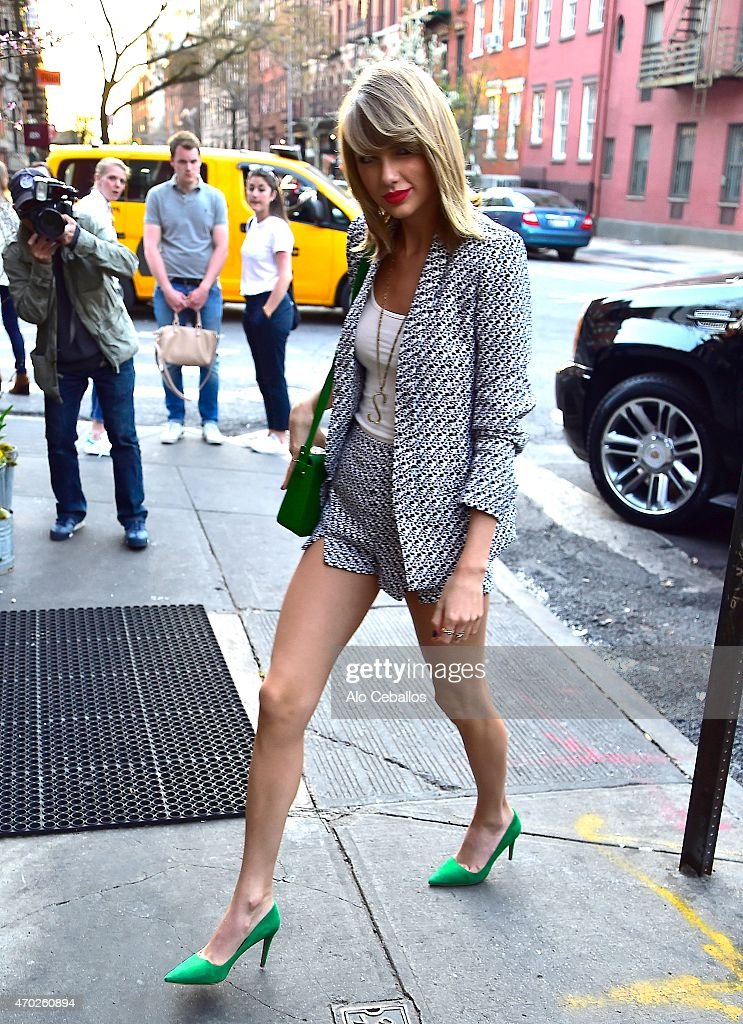 Taylor Swift is seen in the West Village on April 18 2015 in New York City