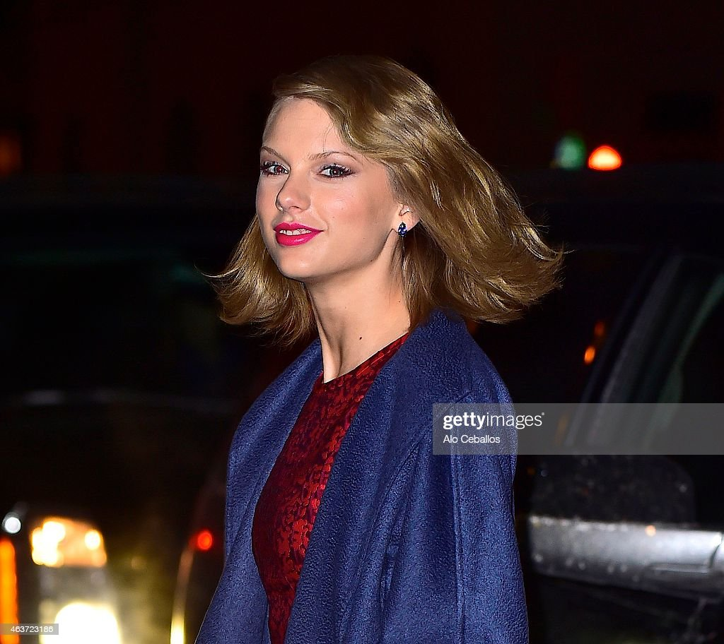 Taylor Swift is seen in Tribeca on February 17, 2015 in New York City.