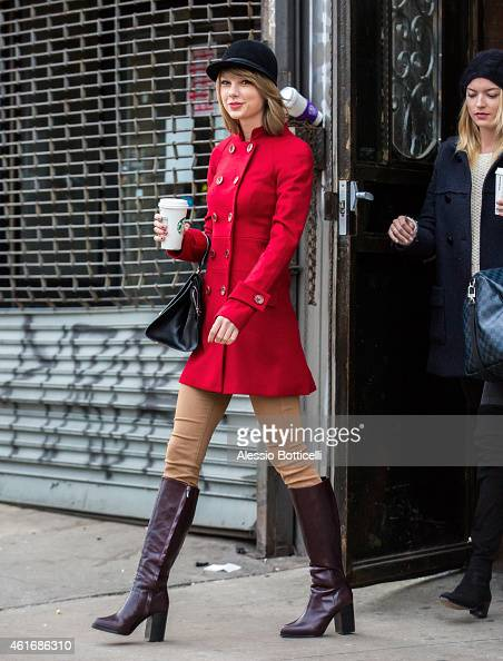 Taylor Swift is seen in TriBeCa on January 17 2015 in New York City