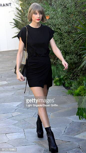 Taylor Swift is seen in West Hollywood Ca on February 24 2016 in Los Angeles California