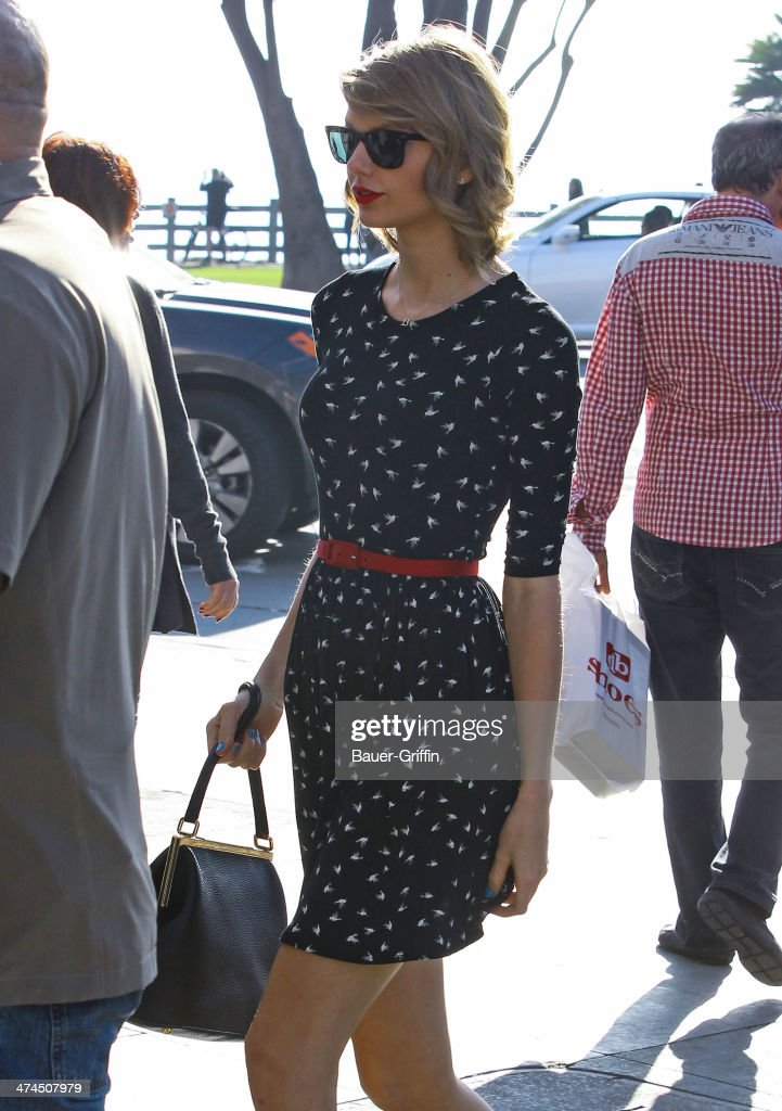 Taylor Swift is seen on February 23, 2014 in Los Angeles, California.