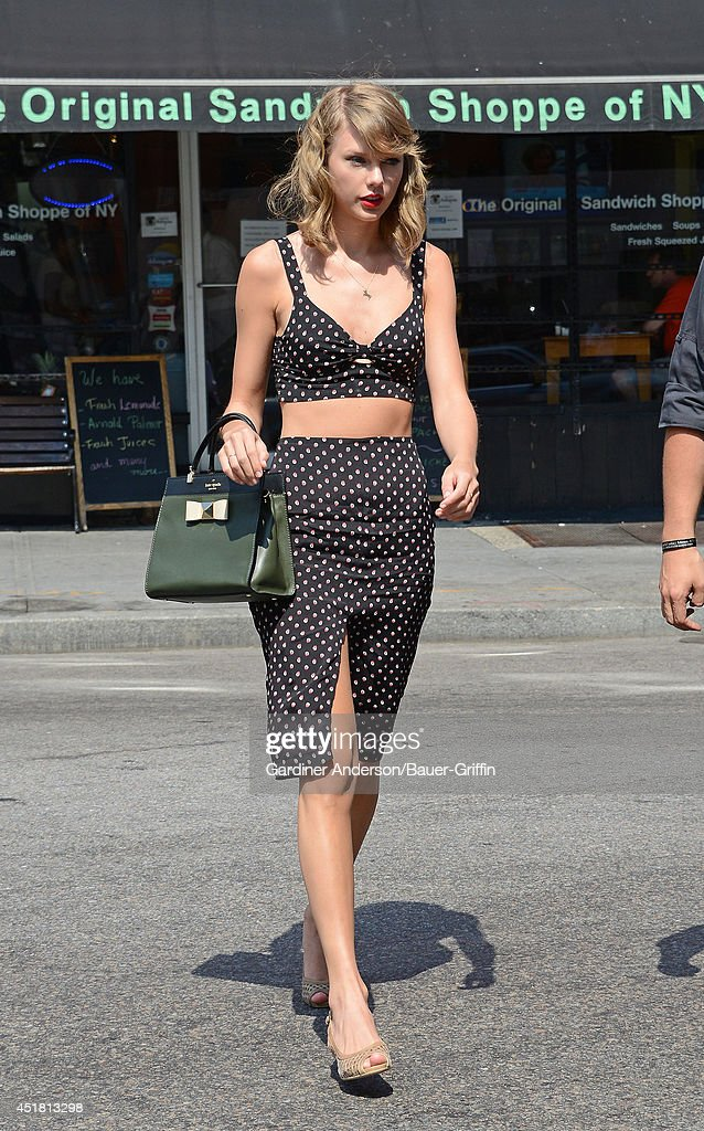 Taylor Swift is seen on July 07 2014 in New York City