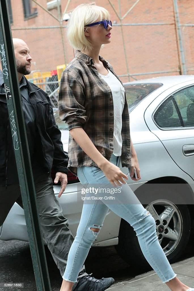 Taylor Swift is seen on May 01, 2016 in New York City.