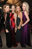 Taylor Swift Jaime King Gigi Hadid and Ireland Baldwin attend the 2014 Vanity Fair Oscar Party Hosted By Graydon Carter on March 2 2014 in West...