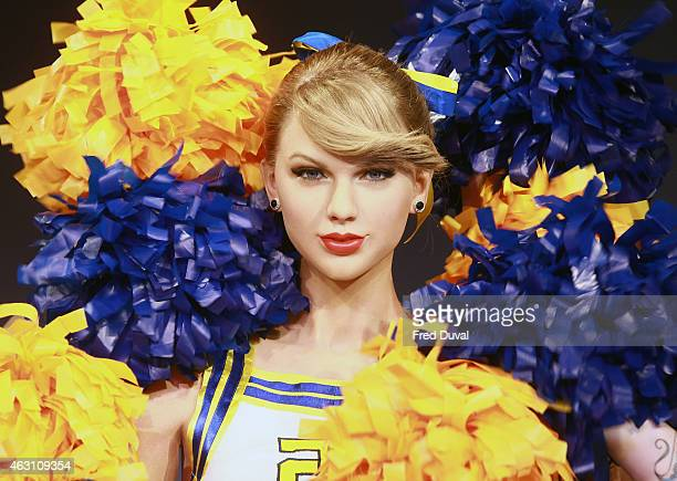 Taylor Swift new wax figure is unveiled at Madame Tussauds on February 10 2015 in London England